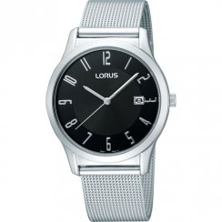 Lorus Classic Black Dial Stainless Steel Milanese Strap Gents Watch RH937CX9