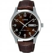 Lorus Classic Bronze Dial Brown Leather Strap Gents Watch RXN41DX9