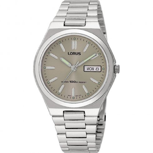 Lorus Classic Grey Dial Stainless Steel Bracelet Mens Watch RXN33AX9