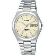 Lorus Classic Lumibrite Cream Dial Stainless Steel Bracelet Mens Watch RXN31BX9