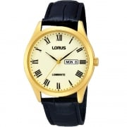 Lorus Classic Lumibrite Dial Black Leather Strap Gents Watch RJ652AX9