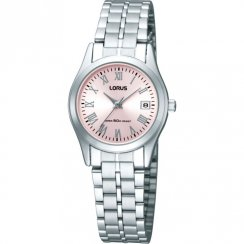 Lorus Classic Pink Dial Stainless Steel Bracelet Ladies Watch RXT09EX9