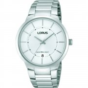 Lorus Classic silver dial stainless steel bracelet Mens watch RS937BX9