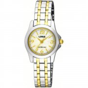 Lorus Classic White Dial Two tone Bracelet Ladies Watch RRS53QX9