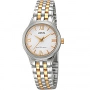 Lorus Classic White Dial Two Tone Bracelet Ladies Watch RRS99TX9