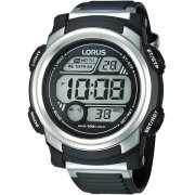 Lorus Digital black dial chronograph resin strap Mens watch R2313GX9