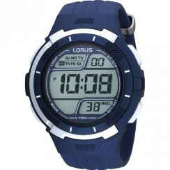 Lorus Digital blue dial chronograph resin strap Mens watch R2315FX9