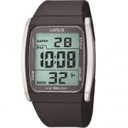 Lorus Digital Chronograph Black Polyurethane Strap Gents Watch R2303HX9