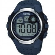 Lorus Digital Chronograph Blue Resin Strap Gents Watch R2387KX9