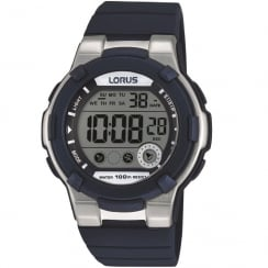 Lorus Digital Chronograph Blue Strap Ladies Watch R2355KX9
