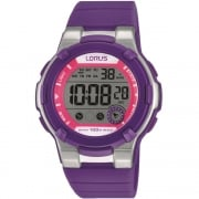 Lorus Digital Chronograph Purple Strap Ladies Watch  R2361KX9