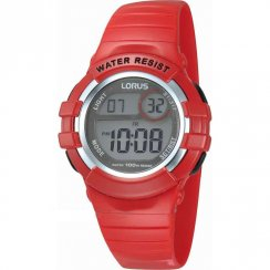 Lorus Digital Chronograph Red Resin Strap Children Watch R2399HX9