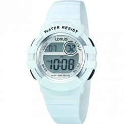 Lorus Digital Chronograph White Resin Strap Children Watch R2383HX9