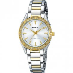 Lorus Just Sparkle Silver Dial Stainless Steel Bracelet Ladies Watch RH852BX9