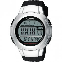 Lorus Digital black dial chronograph rubber strap Mens watch R2339CX9