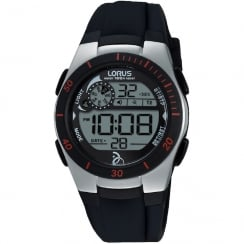 Lorus Novak Djokovic Foundation Digital Black Strap Ladies Watch R2375KX9
