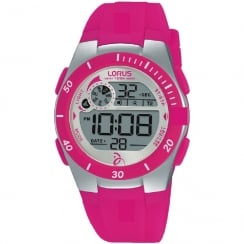 Lorus Novak Djokovic Foundation Digital Pink Strap Ladies Watch R2383KX9