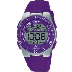 Lorus Novak Djokovic Foundation Digital Purple Strap Ladies Watch R2381KX9