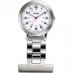 Lorus Nurses Fob white dial stainless steel bracelet Ladies watch RG251CX9