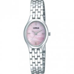 Lorus Pink Dial Stainless Steel Bracelet Ladies Watch RRS41TX9
