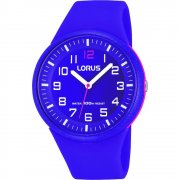 Lorus Purple Dial Purple Resin Strap Mens Watch RRX57DX9