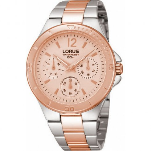 Lorus Rose Gold Dial Two Tone Bracelet Ladies Watch RP614BX9