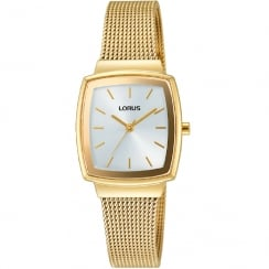 Lorus Silver Dial Gold Mesh Strap Ladies Watch RG254LX9
