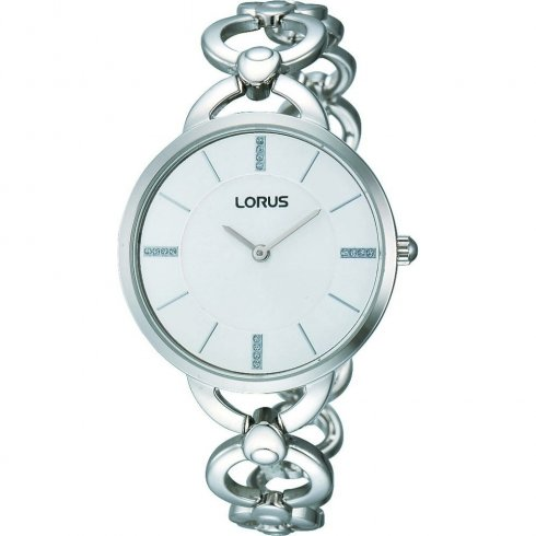 Lorus silver dial stainless steel bracelet Ladies watch RRW13EX9