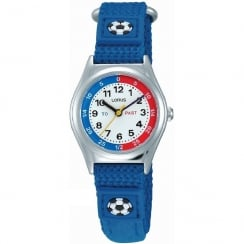 Lorus Time Teacher White Dial Blue Strap Children Watch RG247KX9