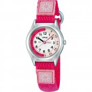 Lorus Time Teacher White Dial Bright Pink Strap Children Watch RG265HX9