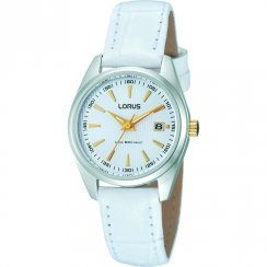 Lorus  white dial leather strap Ladies watch RJ249AX9