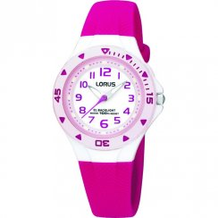 Lorus White Dial Pink Resin Strap Children Watch R2339DX9