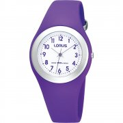 Lorus White Dial Purple Resin Strap Kids Watch R2305GX9