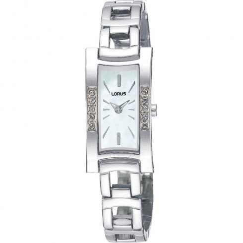 Lorus white dial stainless steel bracelet Ladies watch REG59EX9