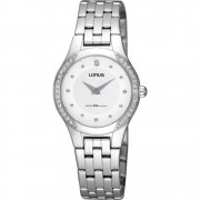 Lorus White Dial Stainless Steel Bracelet Ladies Watch RRW07DX9
