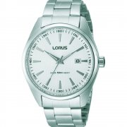 Lorus White Dial Stainless Steel Bracelet Mens Watch RH903DX9