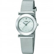 Lorus White Dial Stainless Steel Mesh Bracelet Ladies Watch RRS53RX9