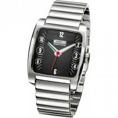 Moschino My Name Is Moschino black dial stainless steel bracelet Mens watch MW0007