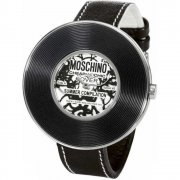 moschino time for fashion silver dial chrome stainless steel moschino time for pendant white dial leather strap ladies watch mw0010