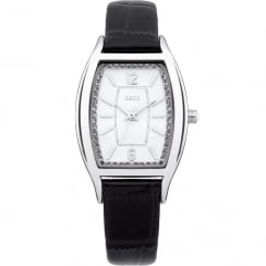 Oasis White Dial Black Leather Strap Ladies Watch B1350