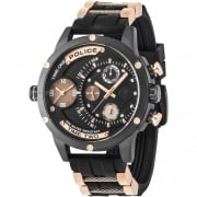 Police Adder Black Dial Two Tone Rubber Strap Gents Watch 14536JSB/02PA