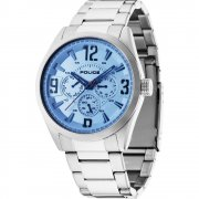 Police Atlanta silver dial stainless steel bracelet Mens watch 13894JS-04M