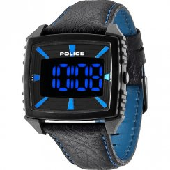 Police Countdown black dial leather strap Mens watch 13890JPGYB-02