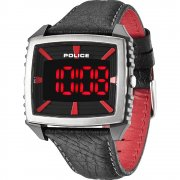 Police Countdown lcd dial leather strap Mens watch 13890JPBS-02