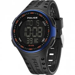 Police Cyberlite lcd dial chronograph resin strap Mens watch 13904JPBBL-02