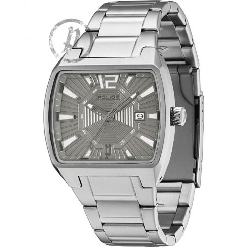 Police District gun metal dial stainless steel bracelet Mens watch 13407JS-61M