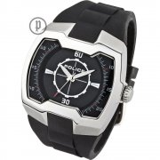 Police Endeavor black dial rubber strap Mens watch 13452JS-02