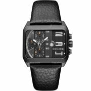 Police Homerton Chronograph Black Dial Black Leather Strap 15528JSB/61
