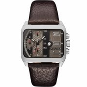 Police Homerton Chronograph Black Dial Brown Leather Strap 15528JS/02