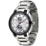 Police Independent  silver dial stainless steel bracelet Mens watch 12534JSTU-04M